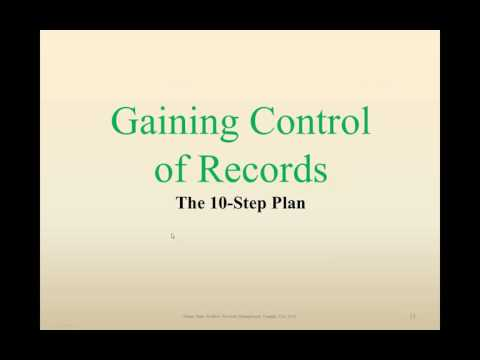 Records Management from Start to Finish   Part 1