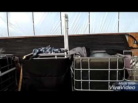 Solar water heater for aquaponics greenhouse