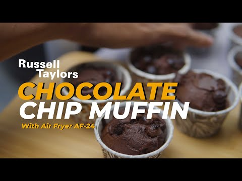 Russell Taylors Air Fryer AF-24 : Chocolate Chip Muffin