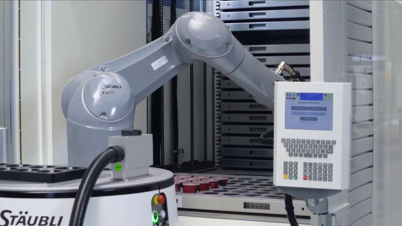 Интреграция Hänel Lean-Lift c промышленным роботом