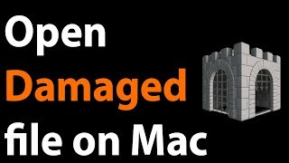 Open damaged software Mac without disable Gatekeeper