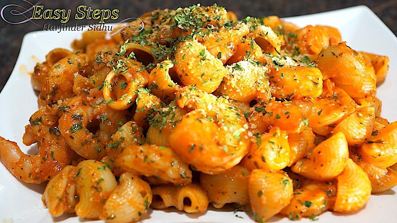 Shrimp Pasta Recipe Garofalo Lumaca Rigata Pasta With Shrimp Recipe Youtube
