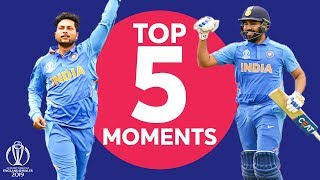 Rohit? Kuldeep? | India v Pakistan - Top 5 Moments | ICC Cricket World Cup 2019