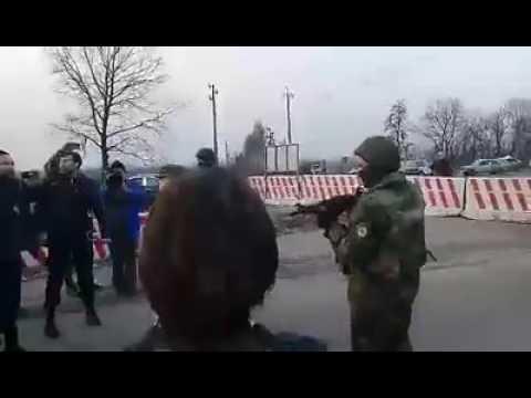 Попытка захвата блокпоста в Константиновке боевиками-блокадниками