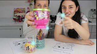 3 Maker Challenge with LOL Confetti vs NUM NOMS Surprise Toys 3 Marker Challenge Bidünya Oyuncak