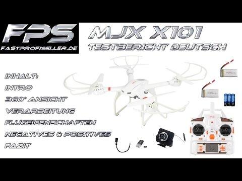 MJX X101 große RC Drohne FPS Review Testbericht Deutsch mit FPV C4008 Kamera Testflug