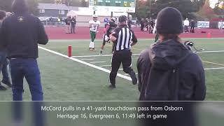 Highlights from Heritage's 16-13 win over Evergreen