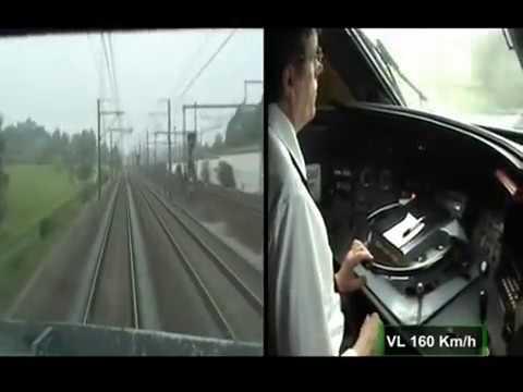 TGV Rail Inside Cab View