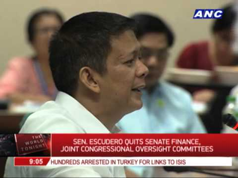 Escudero quits powerful Congress committees