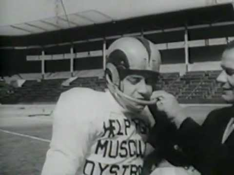 Jerry Lewis - 1956 MDA Football Newsreel