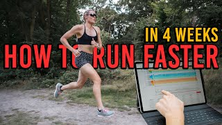 How to run Faster in 4 Weeks
