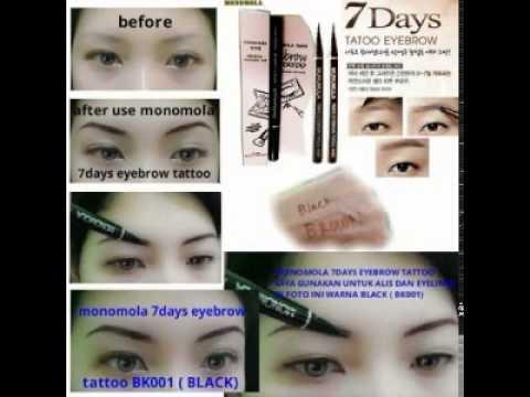 Gambar Monomola Alis Jual Grosir Monomola Eyebrow Eye Brow Tattoo Harga Murah Youtube