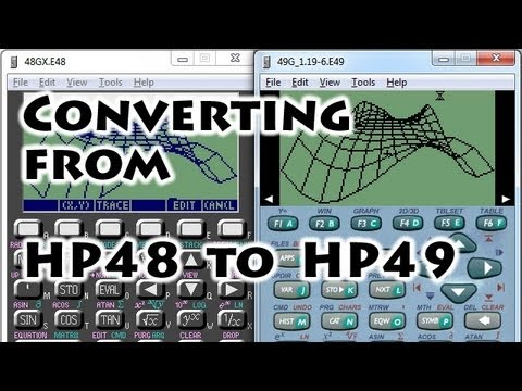 HP calculators: Conversion 48 to 49 series - Gaak