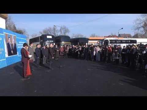 Первый автобус из Ташкента прибыл на старый автовокзал Шымкента