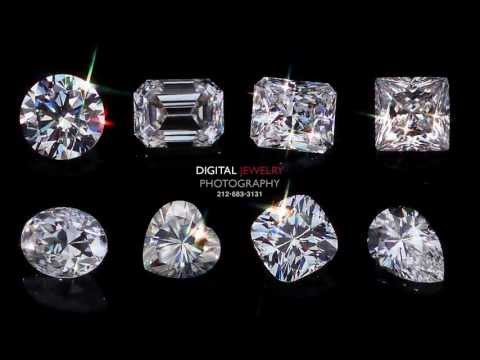 Diamond Shapes Video by Digital Jewelry Photography