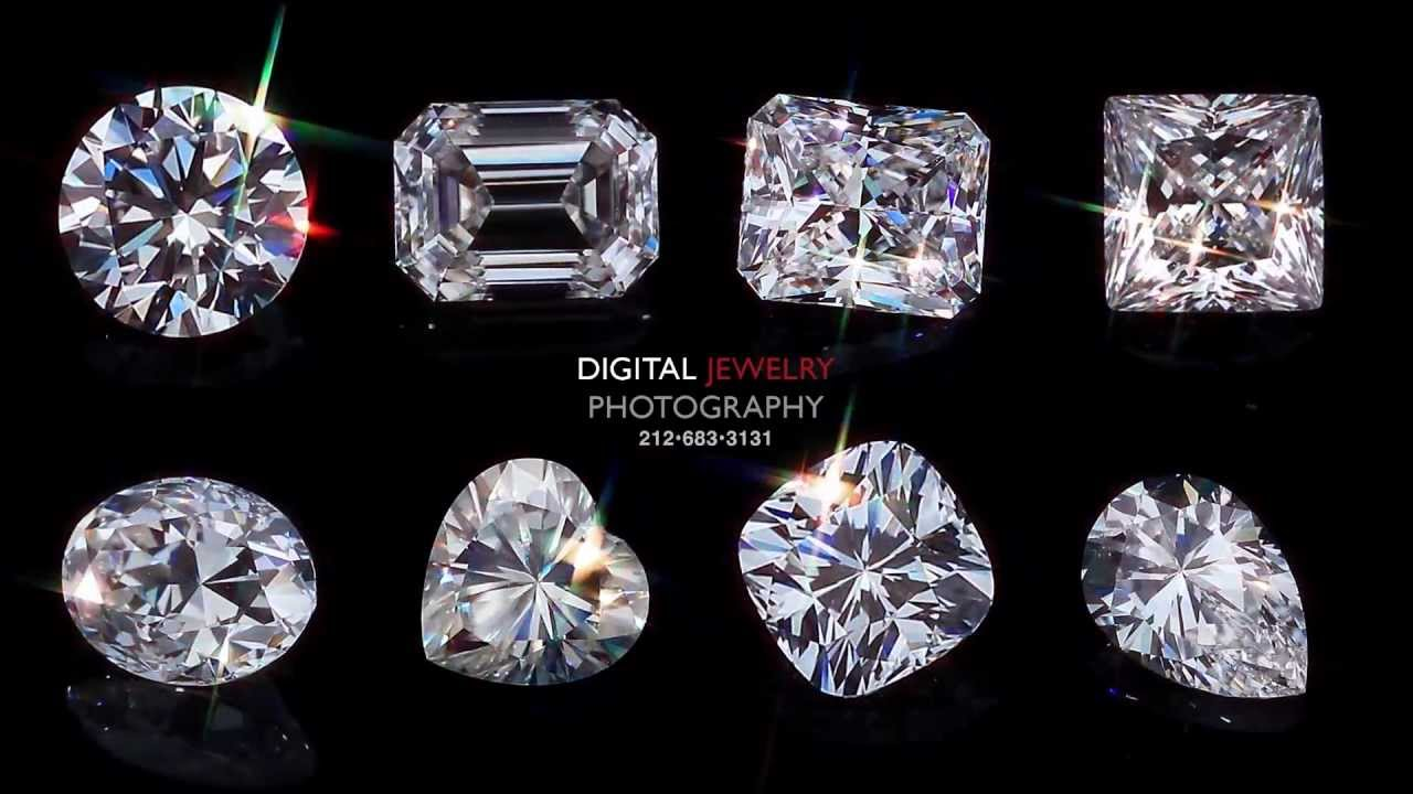 Diamond Shapes Video By Digital Jewelry Photography Youtube