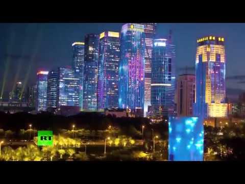 China's National Day celebrations: Grand light show illuminates major cities