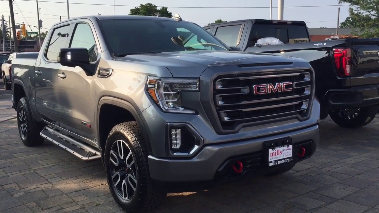 2019 Gmc Sierra 1500 4wd Crew Cab At4 Multi Pro Tailgate Navigation Sunroof Oshawa On Stock 191204 Youtube