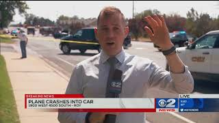 Baixar News crew witnesses plane crash in Roy, Utah