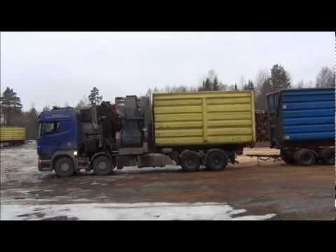 Scania R560 With Wood Chipper - Scania R560 Load Exchange