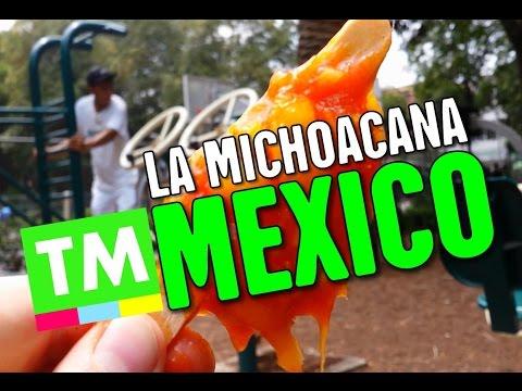 Mexican ICE CREAM Heaven - Juicy Mango + Chile Paleta at La Michoacana