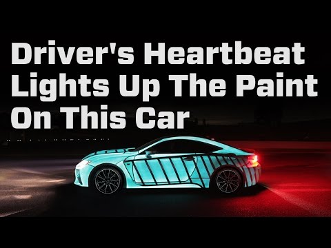 Driver's Heartbeat Lights Up The Paint On This Car