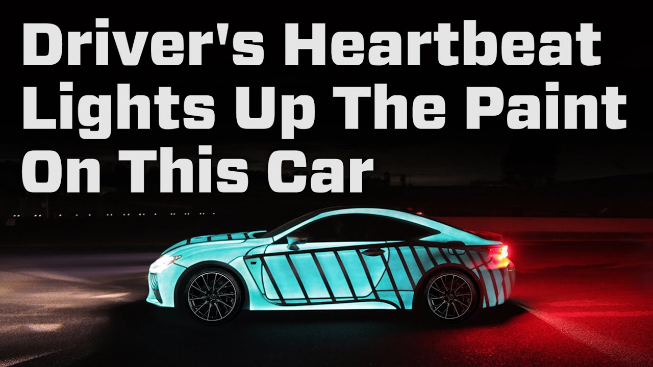 Driver S Heartbeat Lights Up The Paint On This Car Youtube