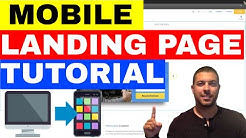 Mobile Landing Page Example - How To Build A Mobile Landing Page 🔥🔥