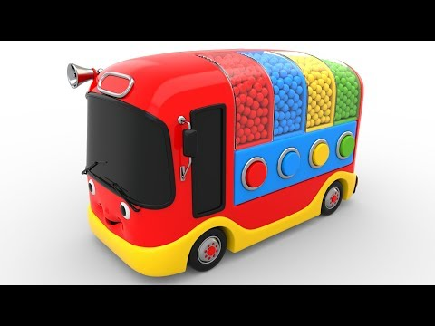 Thumbnail: Colors for Children to Learn with Bus Transporter Toy Color Balls - Educational Videos