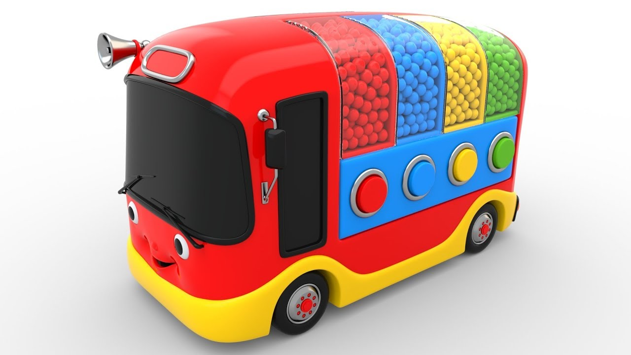 Download Colors for Children to Learn with Bus Transporter Toy Color Balls - Educational Videos