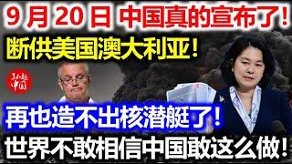 刚刚!澳大利亚否决无效!中国正式加入CPTPP!进群第一件事:断供澳大利亚!有美国技术也造不出核潜艇了!
