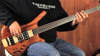 warwick custom shop corvette nt   4 string   5 string bass demo