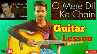 O Mere Dil Ke Chain-Easy Guitar Chords/Lessons/Tutorial/Guitar Cover..By-Merajul