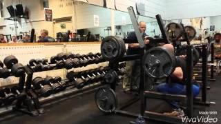 Loughlin Gannon 180kg x 40 rep Squat challenge