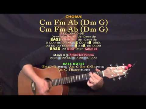 Distraction (Kehlani) Guitar Lesson Chord Chart In Cm Minor