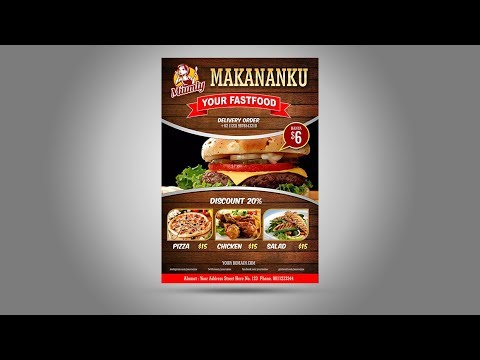 Design Brosur Flyer Fast Food Tutorial Coreldraw X6 Youtube
