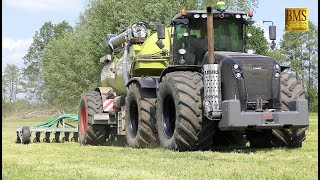 Claas Xerion 5000 Black Edition -KAWECO- slurry driving on pastureland - unique - Grünland düngen