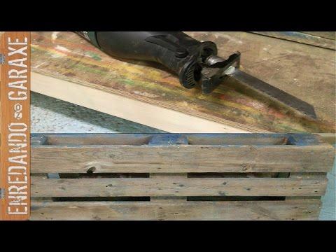C mo desmontar palet cortar clavos de palet con sierra de for Sierra de cortar