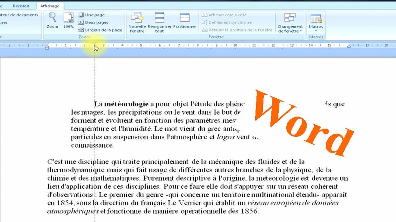 Word 2007 comment utiliser la r gle youtube - Comment utiliser la filasse ...