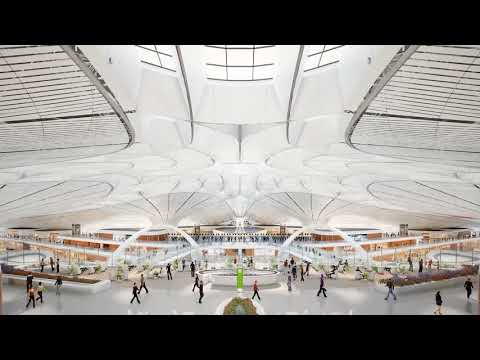 3d Animation for Beijing Airport Zaha designed