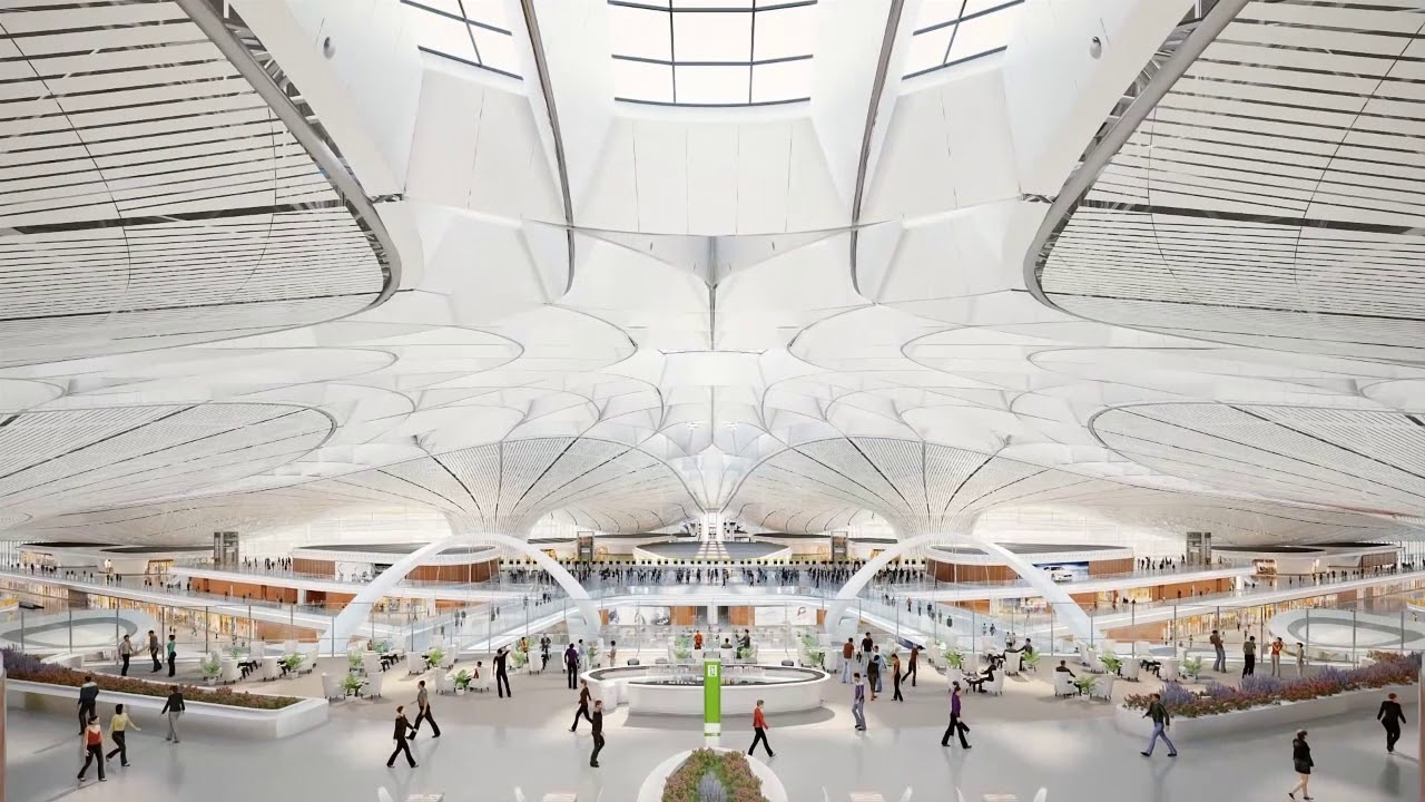 3d Animation For Beijing Airport Zaha Designed Youtube