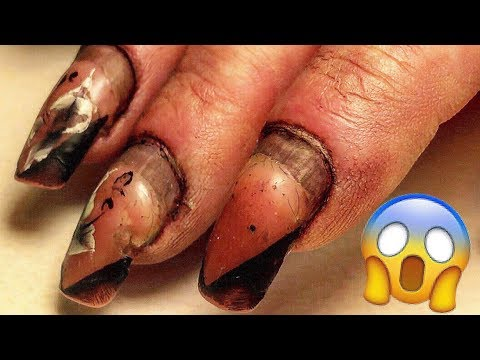 PREGNANT #HARDWORKER WOMAN GETS HER LAST GEL NAILS #TRANSFORMATION BEFORE GIVING BIRTH OF A CHILD