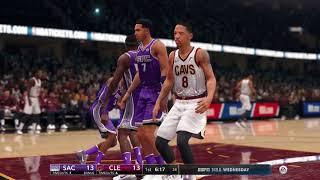 NBA Live 18  Season Game Sacramento Kings vs Cleveland Cavaliers 2017 2018 Season
