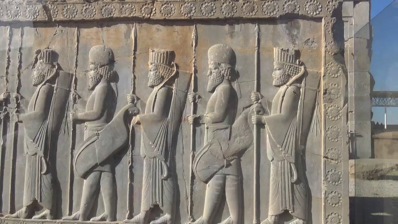 Persepolis bas relief explained youtube