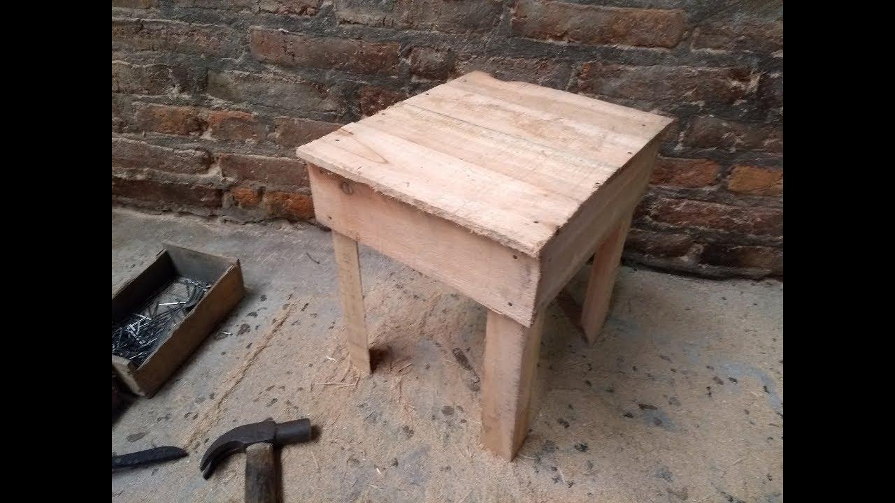 bricolage | como hacer banqueta con madera reciclada de forma rustica -  YouTube