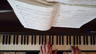 """Фортепиано. Простые мелодии для начинающих.М.Легран. """"Мелодия"""" из кф. Шербурские зонтики."""