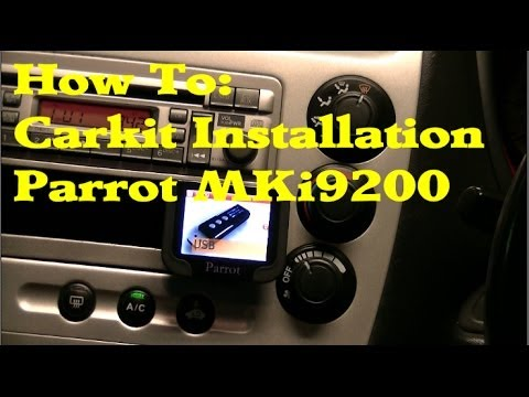 How To  Carkit Installation Parrot Mki9200