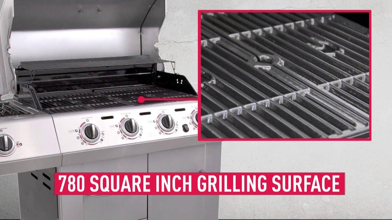 Spareribs Stegetid Gasgrill : Char broil tru infrared gourmet t 47d 4 burner gas grill youtube