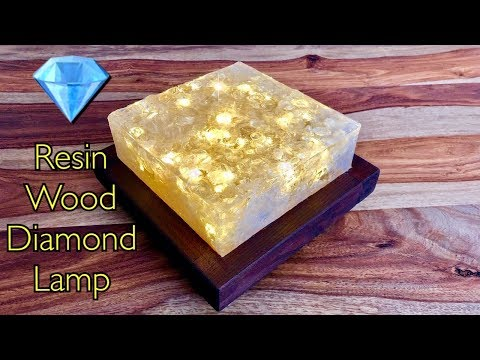 Diamanten LED Lampe aus Epoxidharz 💎 DIY