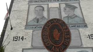 36th Ulster Division, VCs gable wall memorial, Cregagh Estate Belfast